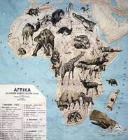 Map of animals in Africa