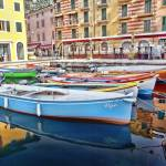 """Colorful Boats near Lake Garda, Italy"" by lillisphotography"