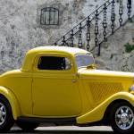 """Yellow Coupe Hardtop"" by artstoreroom"