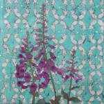 """Foxy Foxglove Batik"" by RePeteyPrints"