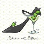 """Cocktail Shoes Martini"" by shariwarren"