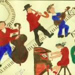 """JAZZ MUSIC"" by ARTCREATIONSBYOLGA"