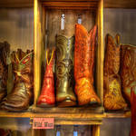 """Vintage Boots at the Wild West Store"" by dawilson"