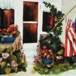 """""American flag at a country house"""" by artbyjpennington"