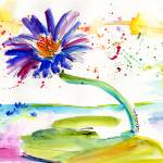 """Blue Lotus Flower Watercolor by Ginette"" by GinetteCallaway"