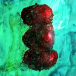 """Still LIfe Red Apples Stacked on Green Table and W"" by ExclusiveCanvasArt"