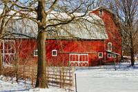 Red Barn - Michigan Winter 2012