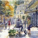 """""""Baden-Baden Sophienstr Last Warm Day"""" by shevchukart"""