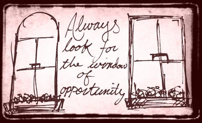 Window of opportunity by josh ward for Window of opportunity