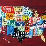 """License Plate Map 2011"" by designturnpike"