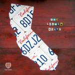 """California License Plate Map"" by designturnpike"