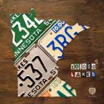"""Minnesota License Plate Map"" by designturnpike"