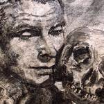 """Hamlet Laurence Olivier Charcoal by Ginette"" by GinetteCallaway"