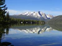 Sawtooth Mountains - Mirrored By Redfish Lake