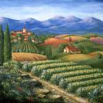 """Vineyards and Village"" by marilyndunlap"