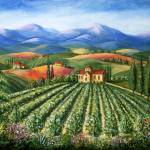 """Vineyards And Abbey"" by marilyndunlap"