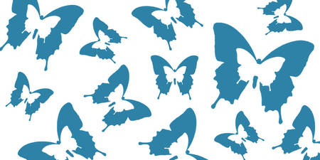 Butterfly Parade Blue