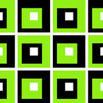 """Retro Cubed Black and Lime"" by ImageMonkey"