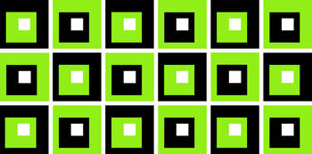 Retro Cubed Black and Lime