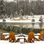 """White Christmas On Snowy Pond"" by Lorraine_Sommer"