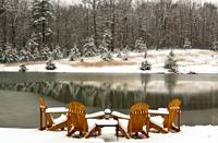 White Christmas On Snowy Pond