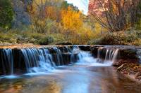 Autumn waterfall in Zion