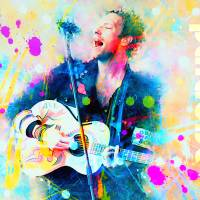 Coldplay/Paradise Art Prints & Posters by Rosalina Atanasova
