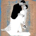 """Custom Wedding Photo & Text Art"" by Lemonjello"