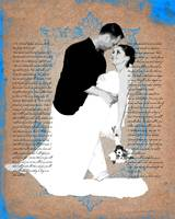 Custom Wedding Photo & Text Art
