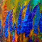 """Delphiniums"" by artbyclaire"