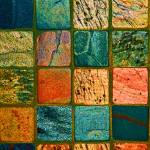 """Quilt of Rocks in bright color"" by KsWorldArt"