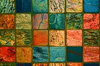 Quilt of Rocks in bright color