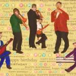 """HAPPY BIRTHDAY JAZZ MUSICIANS"" by ARTCREATIONSBYOLGA"