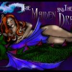 """The Maiden and The Dragon Poster"" by bloomingvinedesign"