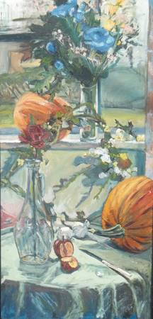 Still Life on Windowsill and Table