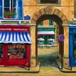 """French Butcher Shop and Cafe"" by marilyndunlap"
