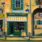 """French Creperie shop"" by marilyndunlap"