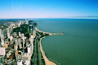 aerial of Chicago