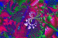 Nerdberries Psychadelic Metallic Art
