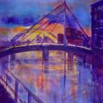 """Millennium Bridge sunrise, Clydeside"" by Frankiemayimages"