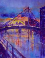 Millennium Bridge sunrise, Clydeside