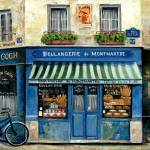 """French Bakery Blue"" by marilyndunlap"