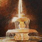 """Fountain of light - 20 x 24"" by sripriyamozumdar"