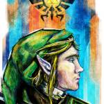 """Link from Legend of Zelda Digital Painting"" by barrettbiggers"