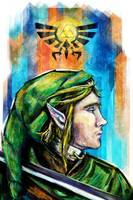 Link from Legend of Zelda Digital Painting