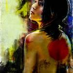 """Japanese Woman Digital Portrait"" by barrettbiggers"