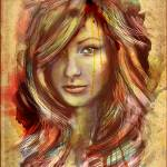 """Olivia Wilde Digital Portrait Stylized"" by barrettbiggers"