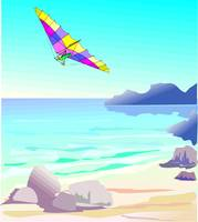 Bay with Hang Glider