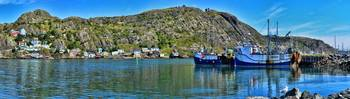 Cliff Houses in St. John's Panorama