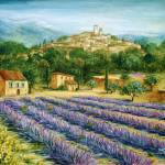 """Saint Paul de Vence and Lavender"" by marilyndunlap"